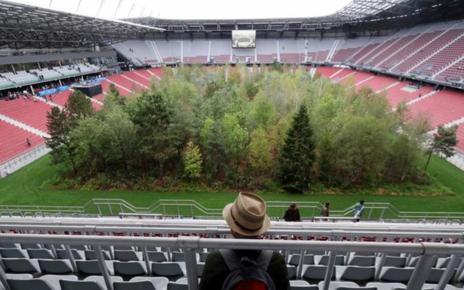 Pemandangan Stadion Bekas Piala Eropa Jadi Hutan